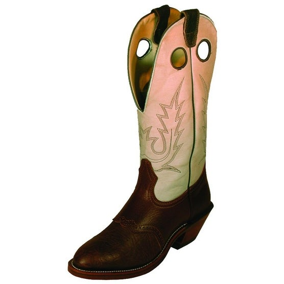 Boulet Western Boots Womens Shoulder Buckaroo Chestnut Oiled 00