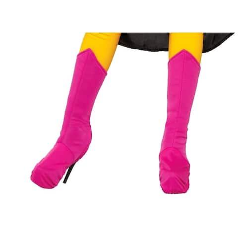 Superhero Pink Costume Boot Tops Adult