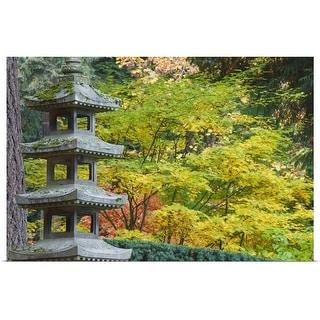 """Portland Japanese Garden, Portland, Oregon, Usa"" Poster Print"