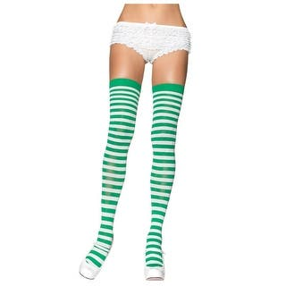 Green and White Nylon Stockings|https://ak1.ostkcdn.com/images/products/is/images/direct/0989b1f193e29724684b0351712323544130f769/Green-and-White-Nylon-Stockings.jpg?impolicy=medium