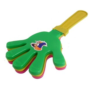 Fuchsia Green Yellow Plastic Hand Shape Clapper Noise Maker