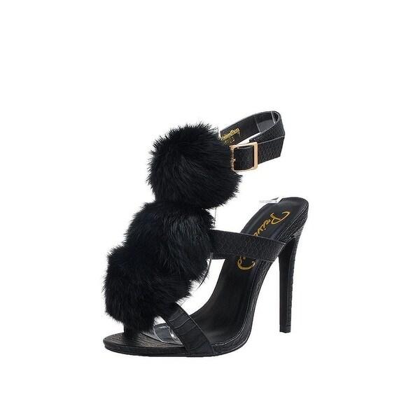 Privileged Womens madrillo Open Toe Ankle Strap Classic Pumps - 6.5