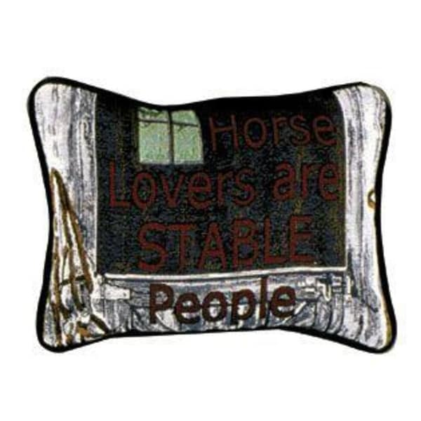 "Set of 2 Horse Lovers Decorative Throw Pillows 9"" x 12"""