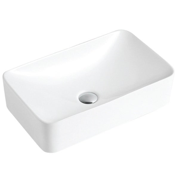 """Karran VC-507-WH Valera 19"""" Vitreous China Vessel Bathroom Sink in White. Opens flyout."""