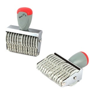 Office Rubber 13 Band Rolling Wheel 0-9 Numbers Digit Numbering Stamp Stamper