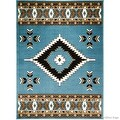 "Allstar Light Blue Woven High Quality Rug. Traditional. Persian. Flower. Western. Design Area Rug (3' 9"" x 5' 1"") - Thumbnail 6"