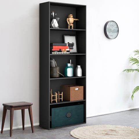 5-Tier Modern Multi- Functional Bookcase Storage Display Bookshelf
