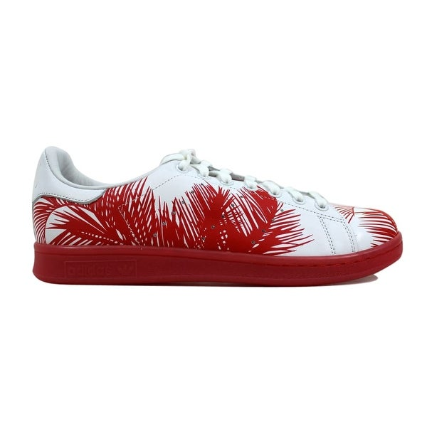 0d88aaba793 Adidas Pharrell Williams Stan Smith BBC Palm White Red-Red Billionaire  S82072 Men