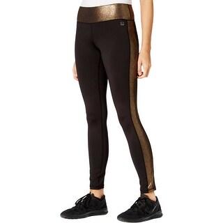 Material Girl Womens Juniors Athletic Leggings Metallic Fitness