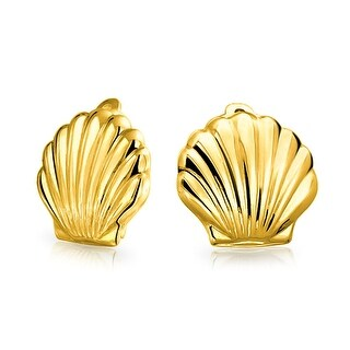 Bling Jewelry Gold Plated .925 Silver Sea Life Clip On Earrings Nickel Clip