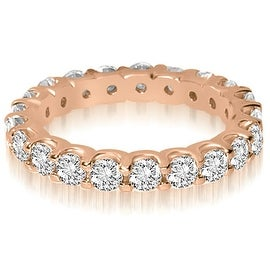2.00 cttw. 14K Rose Gold Round Shared Prong Diamond Eternity Ring