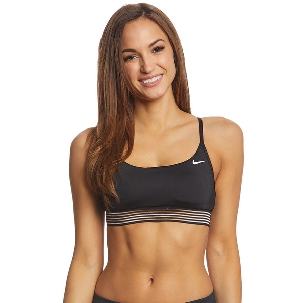 368eb918d41 Nike Women Crossback Swimwear Sports Bikini Top NESS8267DS Black L - Large