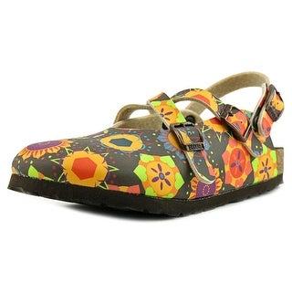 Birki's Mili N Round Toe Synthetic Slingback Sandal