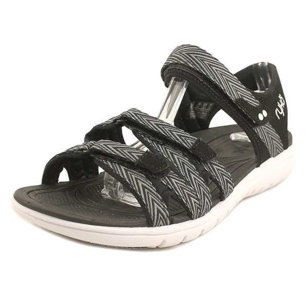 Ryka Savannah Women W Open-Toe Canvas Black Sport Sandal