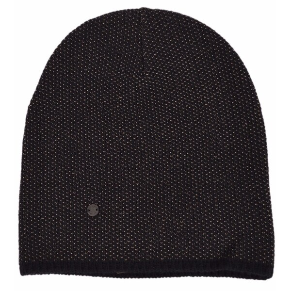 5091b5ffa7142 Gucci 352350 Men  x27 s Black Beige Wool Cashmere Beanie Ski Winter Hat  LARGE