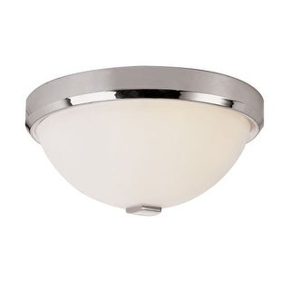 "Trans Globe Lighting 10112 3 Light 15"" Flush Mount Round Ceiling Fixture with Frosted Shade"