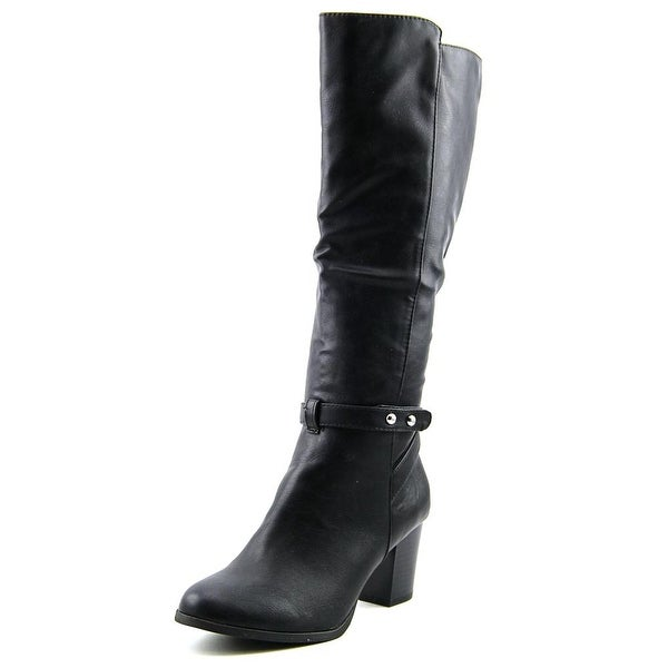 Style & Co Geanita Women Round Toe Synthetic Black Knee High Boot