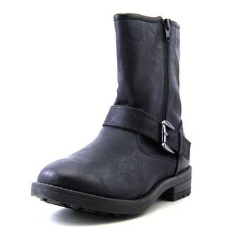 Mia Jania Women Round Toe Synthetic Black Ankle Boot
