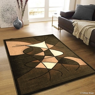 "Allstar Green Abstract Modern Area Carpet Rug (3' 9"" x 5' 1"")"