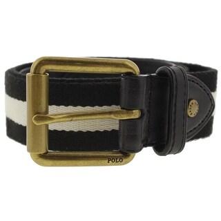 Polo Ralph Lauren Mens Casual Belt Striped Buckle