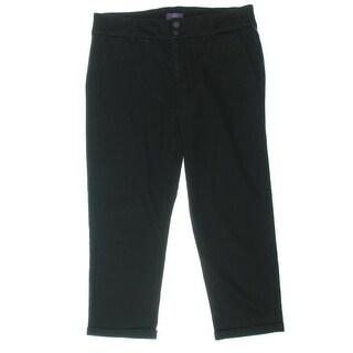 NYDJ Womens Cuffed Slimming Capri Pants - 4