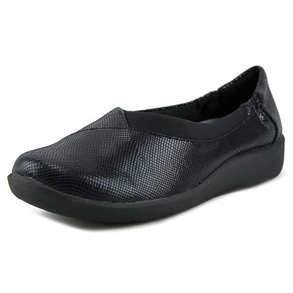 Clarks Sillian Jetay Women W Round Toe Synthetic Black Loafer