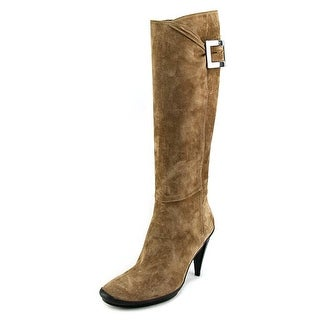 Roger Vivier Stivale Cache Coer T.90 Women Round Toe Suede Brown Knee High Boot