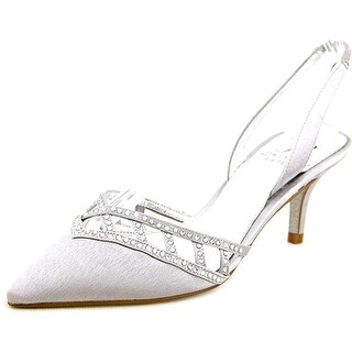 Adrianna Papell Haven Women Open Toe Canvas Silver Sandals