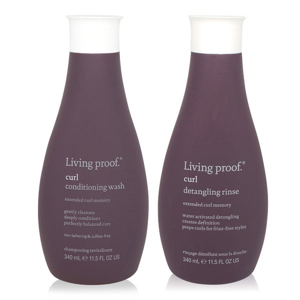 Living Proof Curl Conditioning Wash and Curl Detangling Rinse 11.5 Oz Each Combo pack