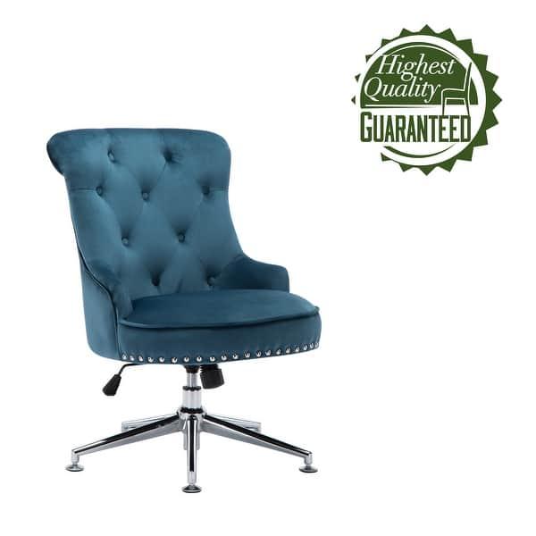 Shop Porthos Home Jaron Office Chair Tufted Wingback Velvet Upholstery Overstock 23563414