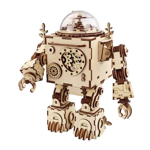 AM601 ROKR Orpheus DIY Steampunk Music Box for Kids and Adults