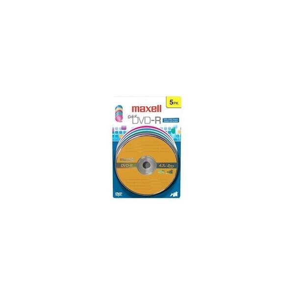 Maxell 638033 Maxell 16x DVD-R Media - 4.7GB - 120mm Standard - 5 Pack Blister Pack
