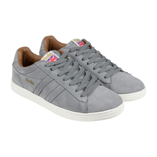 Gola Equipe Suede Mens Grey Suede Lace Up Sneakers Shoes