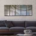 Statements2000 Etched Silver Modern Metal Wall Art Indoor/Outdoor Panels by Jon Allen - Synchronicity - Thumbnail 1