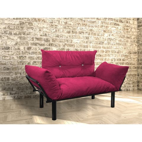 Foam and Metal Contemporary Loveseat