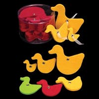 "Club Pack of 144 Yellow Fuzzy Felt Ducks in Assorted Sizes 1"", 2"", 3"""