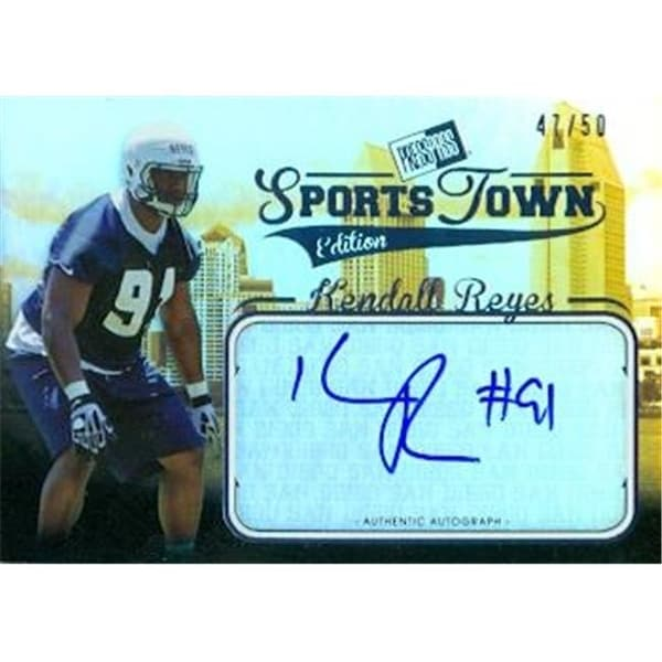 Shop Kendall Reyes Autographed Football Card Uconn 2012 Press Pass