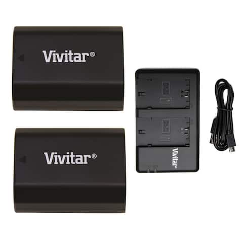 Vivitar Battery Pack for Sony NP-FZ100 (2-Pack) and Battery Charger