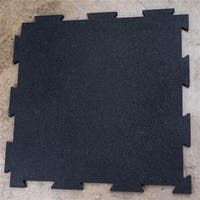 4 Piece Puzzle Mat with 19.7 in. Square & 0.43 in. Thick, Black