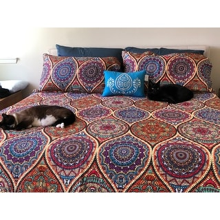 Chic Home Lena 4-Piece Reversible Globally Inspired Paisley Print Quilt Set - Multi-color