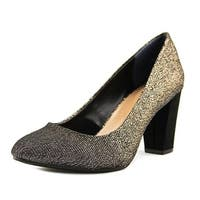 Style & Co Asyaa Women Pointed Toe Canvas Gold Heels