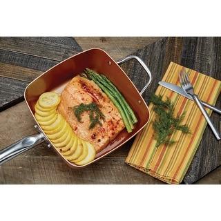 Copper Chef 5 Pc. Set Square - Induction Plate Compatible Non-Stick Cookware