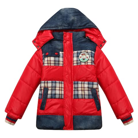 Richie House Boys' Padding Jacket with Detachable Hood