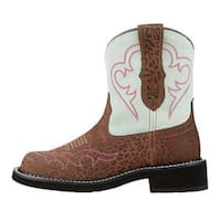 Ariat Womens Fatbaby Heritage Harmony Closed Toe Ankle Cowboy Boots - 7