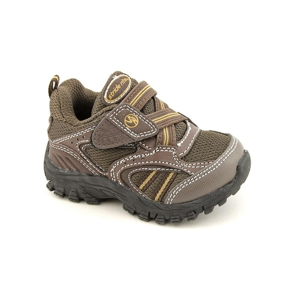 Stride Rite Clayton Infant Round Toe Leather Brown Sneakers