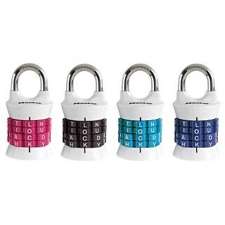 Master Lock 1535DWD Word Combination Padlock, Assorted Colors