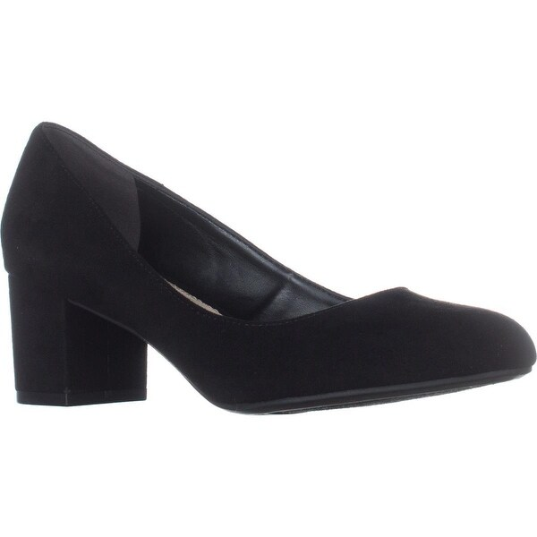 B35 Petunia Calissic Kitten Heel Pumps, Black