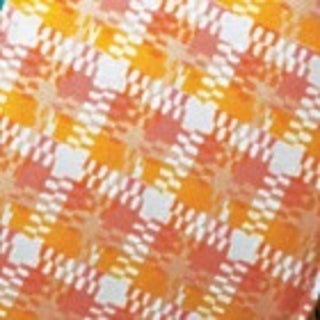 "Cotton Summer Weave Orange and Yellow Wired Craft Ribbon 1"" x 40 Yards"