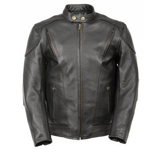 Kids Leather Side Lace Vented Scooter Jacket