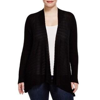Eileen Fisher Womens Plus Cardigan Sweater Tencel Open Front